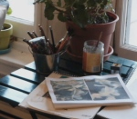my little drawing / writing table