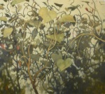 oil painting of green tangled vines by Nanci Erskine