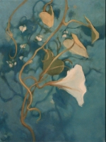 Moonflower II  16x12  oil on canvas  @2008 Nanci Erskine- Private Collection