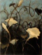 Moonflowers 16x12 oil on canvas  ©2007 Nanci Erskine -  SOLD
