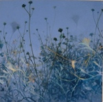 oil painting of periwinkle blue atmosphere by Nanci Erskine