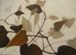 oil painting of brown overlapping vines by Nanci Erskine
