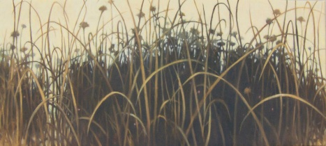 Prairie Lights, 28 x 62 oil on canvas 2013 © Nanci Erskine - SOLD