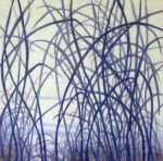 """""""Winter Field"""" II, 18x18, oil on canvas, 2015  ©Nanci Erskine  $700"""