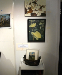 a couple vine paintings and nice little 8x10 mounted paintings and some pages from my sketch book