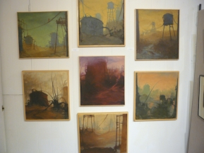 wall of industrial 18x20 series- lots of great conversations about these!