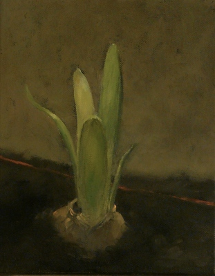 """Sprout"" oil on canvas 10x8"
