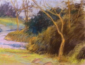 Around the Bend - pastel