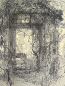 Garden shelter - charcoal/pastel