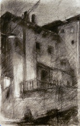 Night Drawing - charcoal