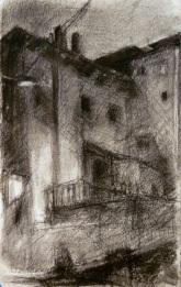 Night Drawing - charcoal
