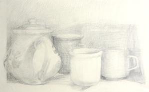 Tea Time - graphite